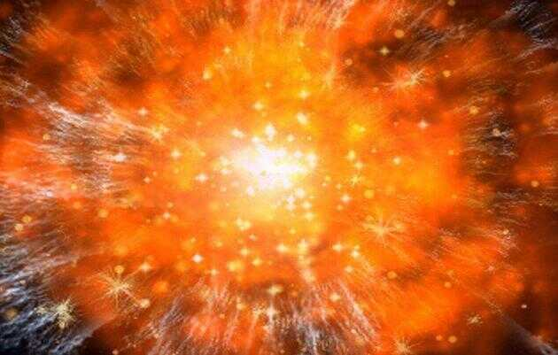从一定意义上讲,宇宙中最炽热的是大爆炸,如果我们追溯到宇宙起源之初,宇宙变得非常密集、非常炽热,并且没有限制。