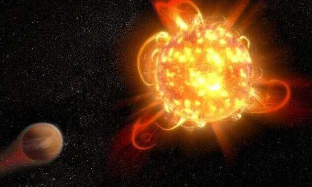 恒星超级耀斑的想象图
