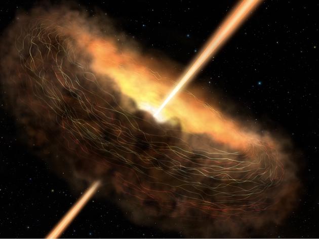 一项关于超大质量黑洞的最新研究表明,当黑洞疯狂吞噬宇宙物质时释放的辐射产生生物分子的构建模块,甚至还能提供光合作用的动力。
