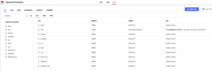 华为方舟编译器正式开源,脱离 GitHub 实现自主托管
