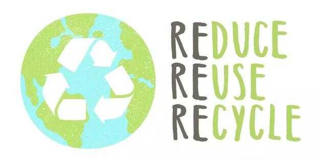 3R 处理法:减少使用、重复利用和回收。