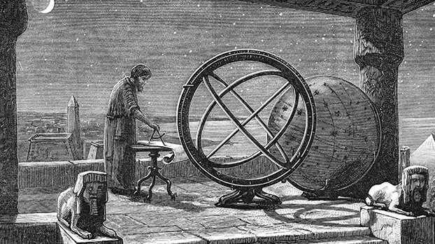 """公元前 2 世纪,古希腊天文学家希帕克(Hipparchus)编制了已知的第一份星表。古希腊哲学中有""""原子论""""学派,认为在一个无限的虚空中分布有无数个世界。"""