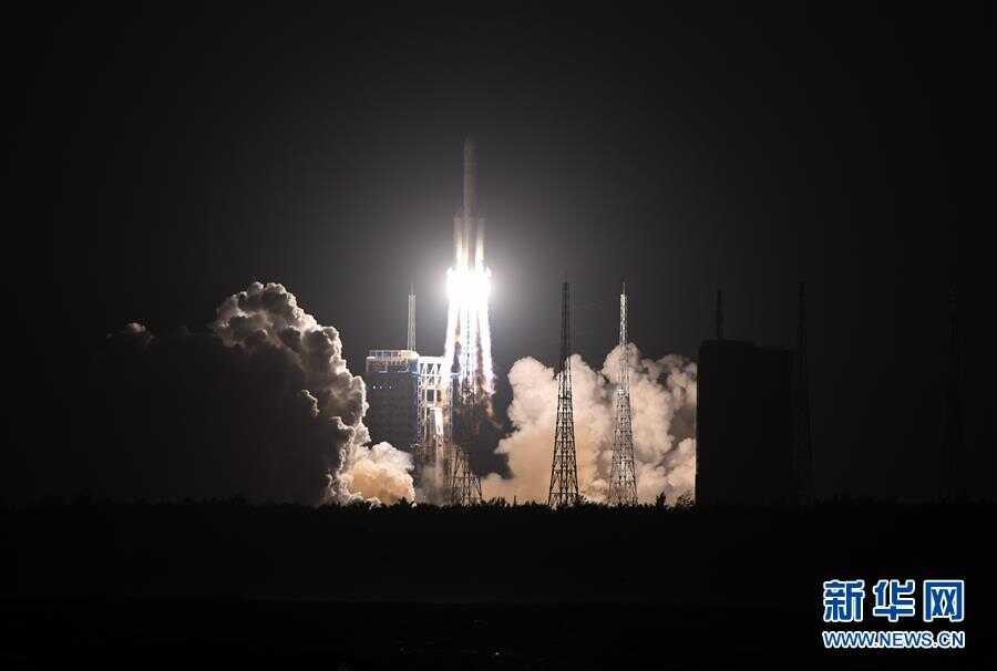 (科技)(1)长征五号运载火箭成功发射实践二十号卫星