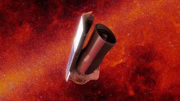 斯皮策太空望远镜工作时的想象图