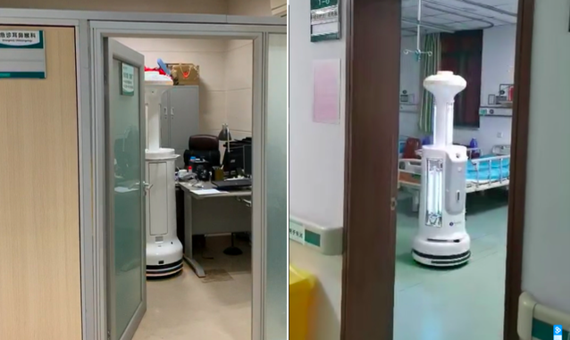 一线  疫情防控大战中,隔离区里的机器人们