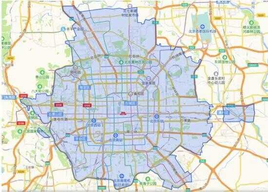 摩拜单车北京市运营范围来源 / 摩拜单车 App