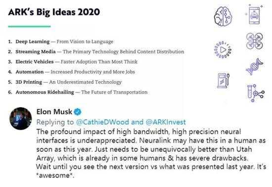 马斯克在推特上回应脑机接口被低估