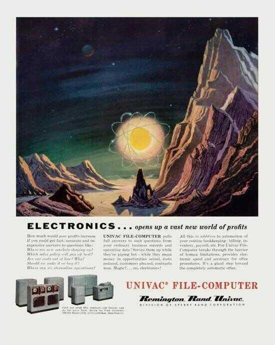 1956 年,UNIVAC(通用自动计算机)广告