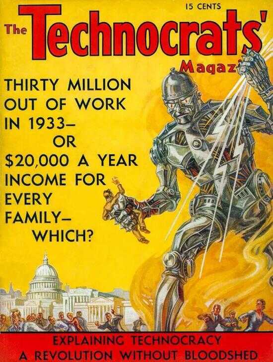 1933 年,科技运动杂志《The Technocrats'》的封面