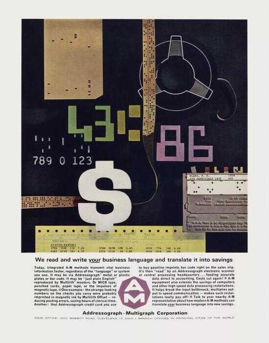 1962 年,地址簿与复印机制造商 Addressograph - Multigraph 广告