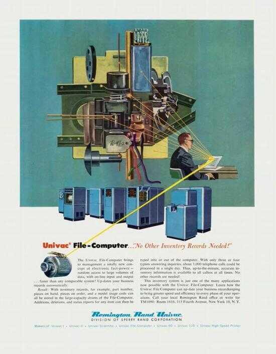 Remington Rand 的 UNIVAC(通用自动计算机)广告