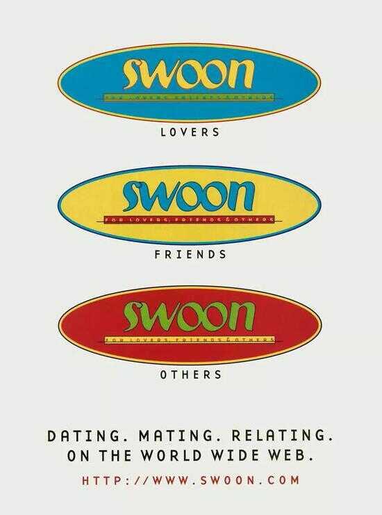 上世纪社交网站 Swoon 的广告