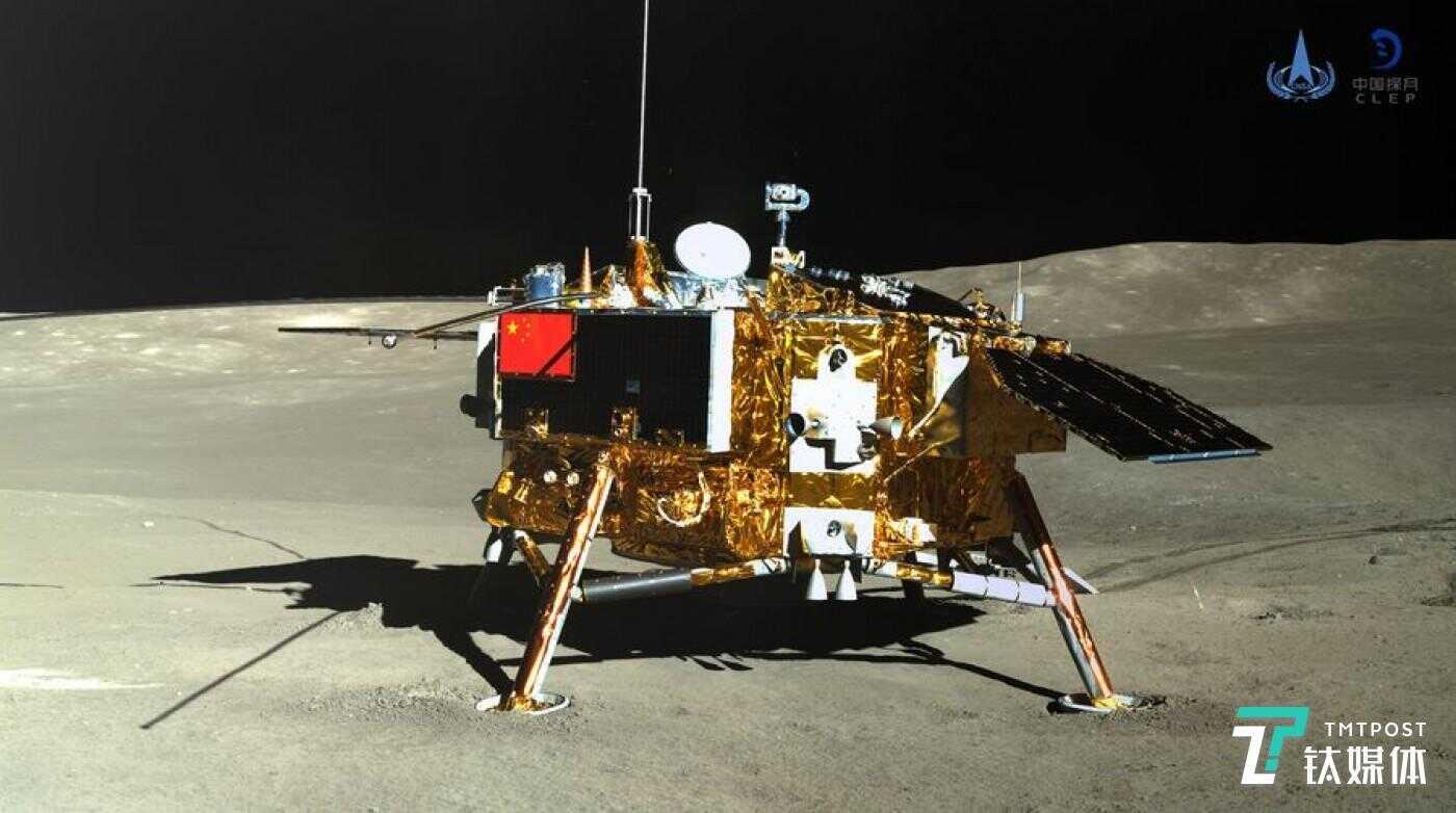 嫦娥四号的着陆器图像